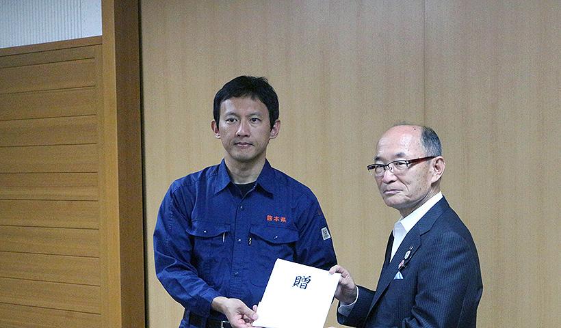 平成28年 熊本地震義援金を贈呈