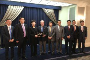 高燕 中国国際貿易促進委員会会長一行との懇談会を開催
