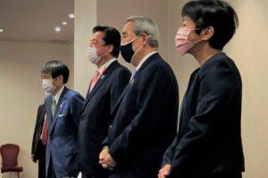 若宮万博担当大臣 来阪 経済3団体トップと就任後初めて会談